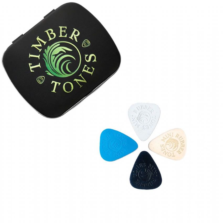 Rubber Tones Mini - Tin of 4 Picks | Timber Tones